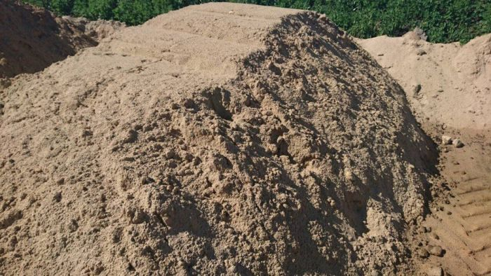 песок строительный средней фракции